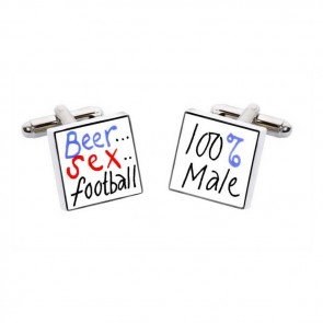 Beer Sex Football Cufflinks