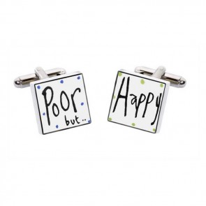 Poor But Happy Cufflinks