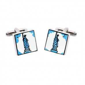 Statue Of Liberty Square Cufflinks