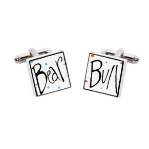 Square Bull And Bear Cufflinks