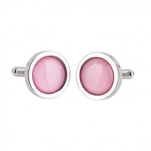 Pale Pink Pure Colour Cufflinks