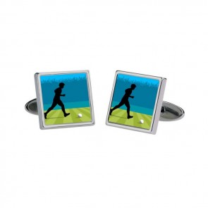Footballer Moving Image Cufflinks