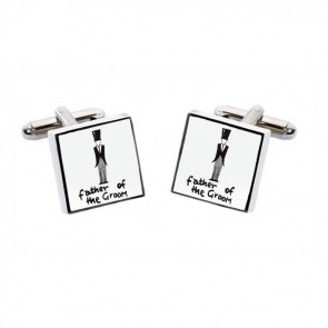 Father Of The Groom Simple Square Cufflinks