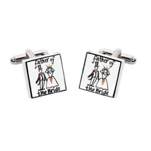 Father Of The Bride Simple Wedding Cufflinks