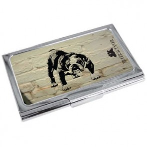 Barry Bulldog White Brick Business Card Holder