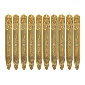 Gold Finish Vine Collar Stiffener Set