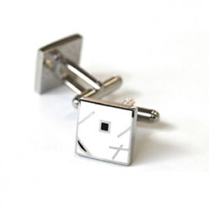 Jazz White Cufflinks