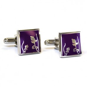 Spring Purple Cufflinks
