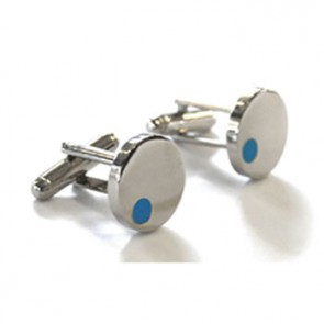 Satellite Light Blue Cufflinks