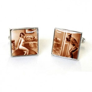 Victorian Tease Cheeky Boy Cufflinks