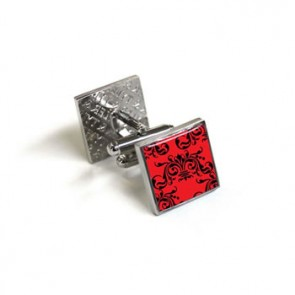 Clarence Red And Black Cufflinks