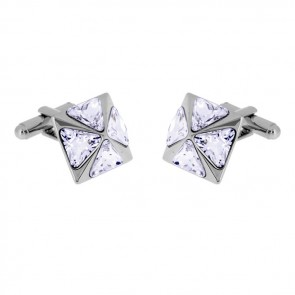 Clear Pyramid Cufflinks