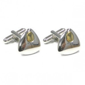Rhodium And Gold Plated Jupiter Cufflinks