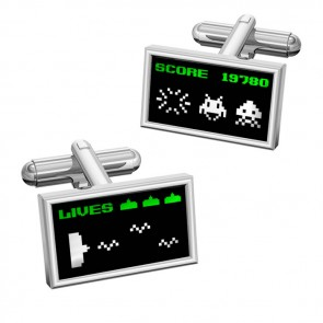 Arcade Invaders Cufflinks