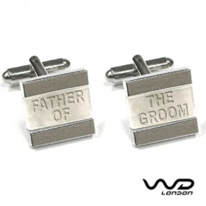 Father Of The Groom Text Cufflinks