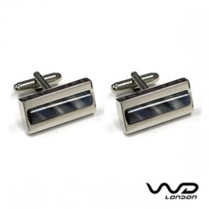 Blue & Grey Rock Cufflinks