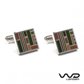 Brown & Green Jack Cufflinks