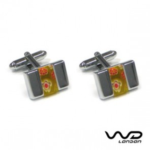 Florence Yellow Cufflinks