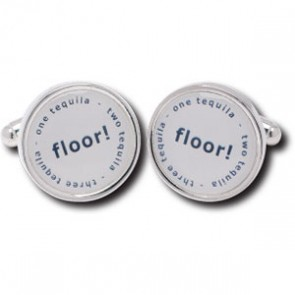 Tequila Duo Design Silver Plated Cufflinks