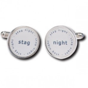 Stag Night Duos Design Silver Plated Cufflinks
