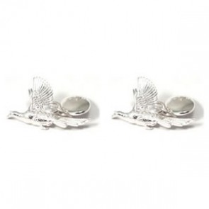Sterling Silver Flying Pheasants Cufflinks