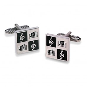 Square Musical Note Cufflinks