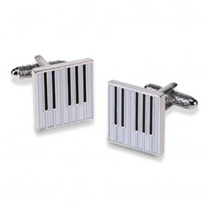 Square Piano Keyboard Cufflinks