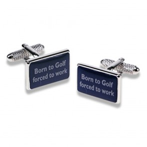 Born To Golf, Forced To Work Cufflinks