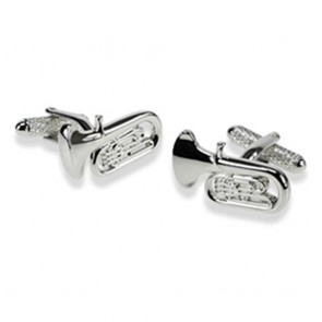 Tuba Rhodium Cufflinks