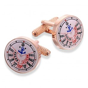 Ship Telegraph - Rose Gold Cufflinks