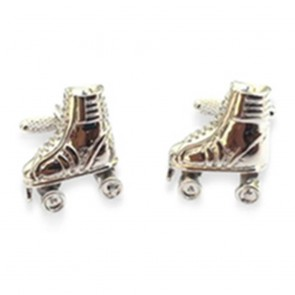 Roller Skate Cufflinks With Moving Wheels