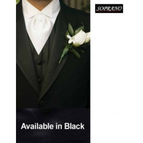 Black Pre Tied Wedding Cravat