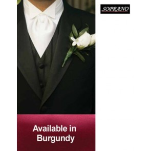 Burgundy Pre Tied Wedding Cravat