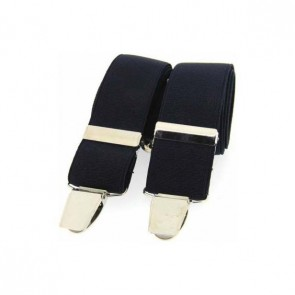 Navy Plain Elasticated Braces