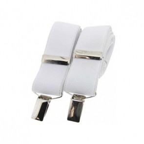 White Plain Elasticated Braces