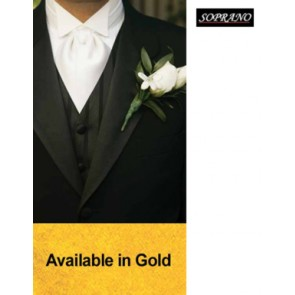 Gold Self Tie Wedding Cravat