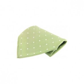 Lime with White Polka Dots Silk Pocket Square