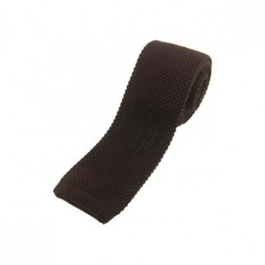 Brown Knitted Polyester Tie