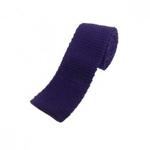 Purple Knitted Polyester Tie
