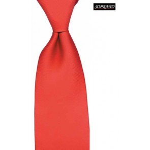 Printed Silk Red Twill Tie