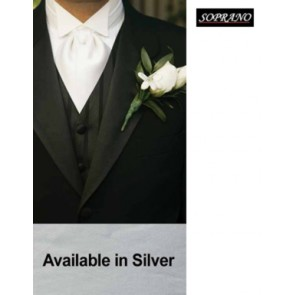 Silver Self Tie Wedding Cravat