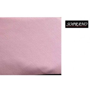 Woven Pink Tie In Diagonal Ribbed Luxury Silk