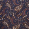 Multi Navy Paisley Pocket Square