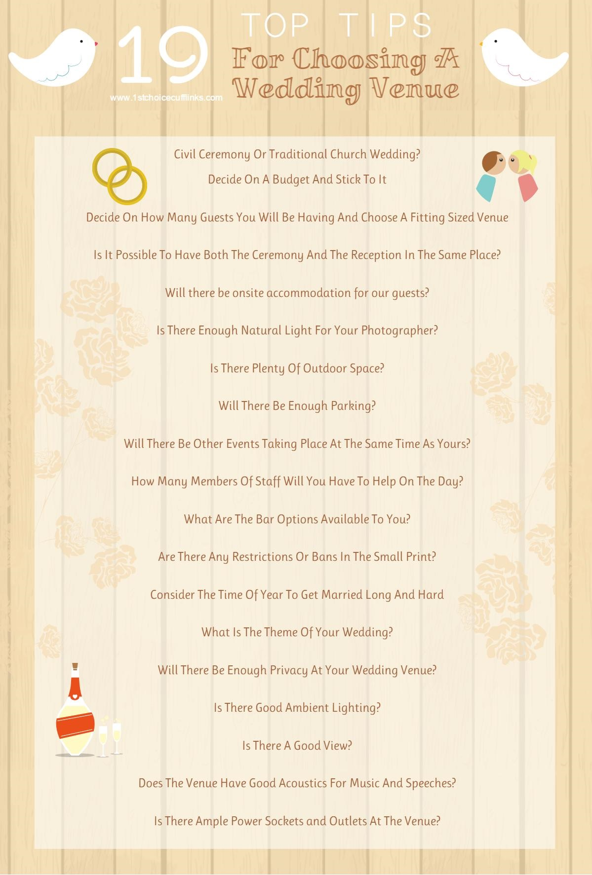 Top Tips For Wedding Venues