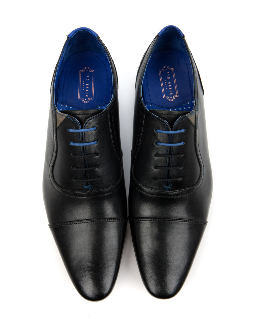 Ted Baker Black Capped Oxford Shoes