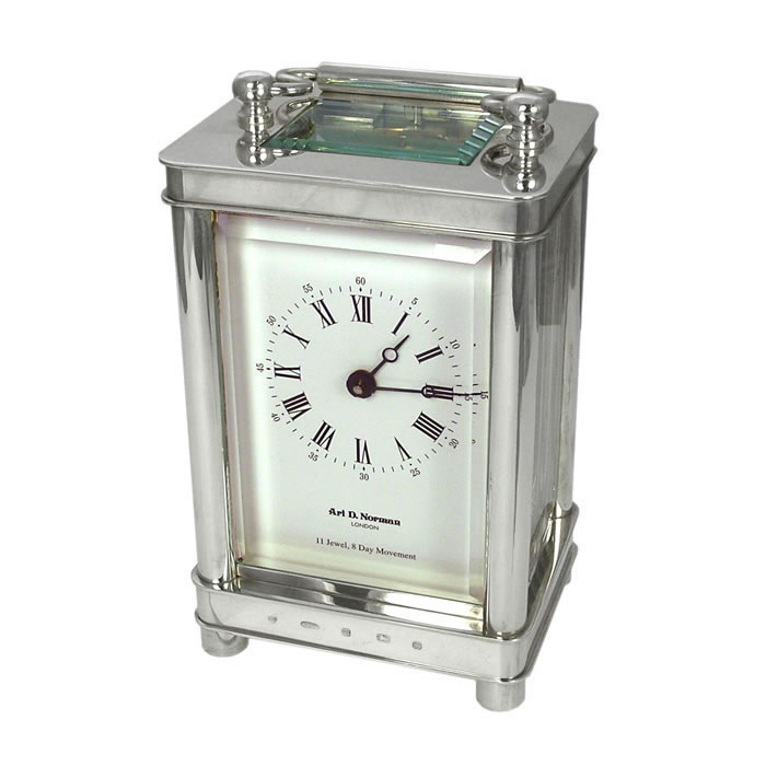 Silver Groves Carriage Clock