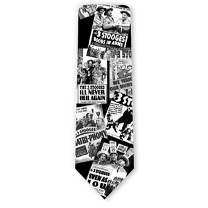 Three Stooges Movie Posters Necktie