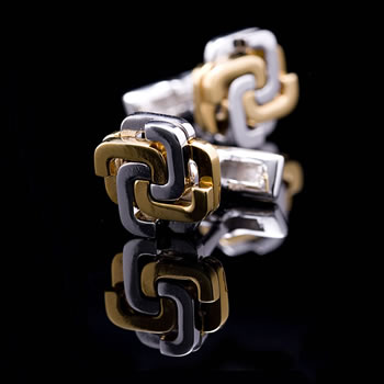 Interlocking C Cufflinks