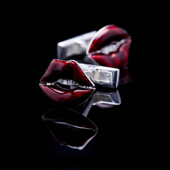 Red Lips Novelty Cufflinks