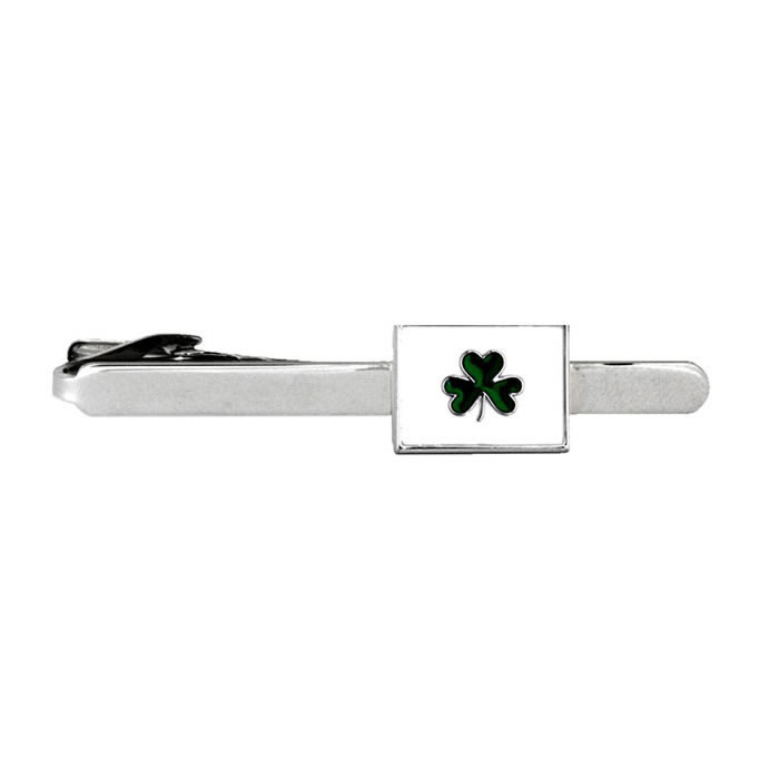 Irish Shamrock Tie Bar